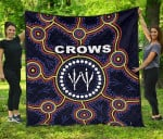 Adelaide Premium Quilt Indigenous Crows Footprint