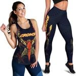 Combo Racerback Tank and Legging Adelaide Simple Indigenous Crows K8