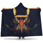 Adelaide Hooded Blanket Simple Indigenous Crows