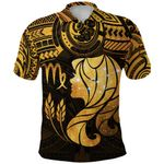 Virgo Zodiac Polo Shirt Polynesian Tattoo Original Vibes - Ochre K8