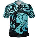Virgo Zodiac Polo Shirt Polynesian Tattoo Original Vibes - Light Blue K8