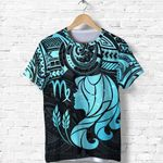 Virgo Zodiac T Shirt Polynesian Tattoo Original Vibes - Light Blue K8