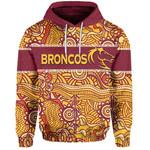 (Custom Personalised)Brisbane Broncos Hoodie Aboriginal Pattens