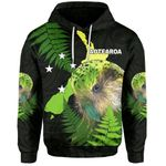 Aotearoa Kakapo Bird Hoodie With Fern