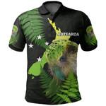 Aotearoa Kakapo Bird Polo Shirt With Fern
