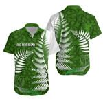 Aotearoa Maori Koru Hawaiian Shirt Silver Fern | 1st New Zealand