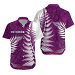 Aotearoa Maori Koru Hawaiian Shirt Fern - Purple | 1st New Zealand