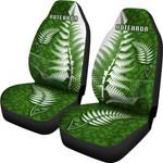 Aotearoa Maori Koru Car Seat Covers Silver Fern Front | 1st New Zealand