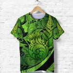 Thistle T Shirt Silver Fern - Green K8