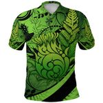 Thistle Polo Shirt Silver Fern - Green K8