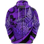 Thistle Zip Hoodie Silver Fern - Purple K8