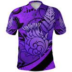 Thistle Polo Shirt Silver Fern - Purple K8