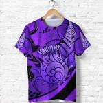 Thistle T Shirt Silver Fern - Purple K8