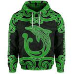 Aotearoa Maori Koru Aihe Hoodie Green