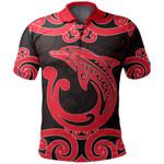 Aotearoa Maori Koru Aihe Polo Shirt Red
