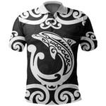 Aotearoa Maori Koru Aihe Polo Shirt White