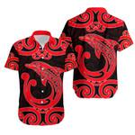 Aotearoa Maori Koru Aihe Hawaiian Shirt Red