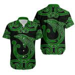 Aotearoa Maori Koru Aihe Hawaiian Shirt Green