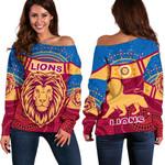 Brisbane Indigenous Off Shoulder Sweater Proud Lions | 1st New Zealand