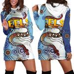 Parramatta Women Hoodie Dress Eels Simple Indigenous