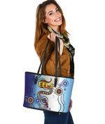 Parramatta Small Leather Tote Eels Simple Indigenous