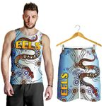 Combo Men Tank Top and Men Short Parramatta Eels Simple Indigenous