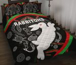Rabbitohs Quilt Bed Set Indigenous Mystery Vibes K8