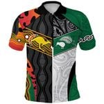 Australia Indigenous and New Zealand Maori Polo Shirt Proud Front