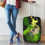 Aotearoa Kakapo Bird Luggage Covers With Fern