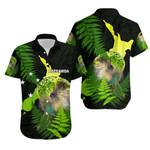 Aotearoa Kakapo Bird Hawaiian Shirt With Fern