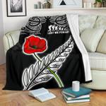 Anzac Australia and New Zealand Premium Blanket, Poppy Fern Lest We Forget K4