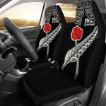 Anzac Australia And New Zealand Car Seat Cover, Poppy Fern Lest We Forget K4