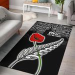 Anzac Australia And New Zealand Area Rug, Poppy Fern Lest We Forget K4
