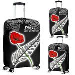 Anzac Australia and New Zealand Luggage Cover, Poppy Fern Lest We Forget K4