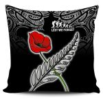 Anzac Australia and New Zealand Pillow Cover, Poppy Fern Lest We Forget K4