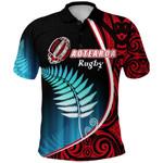 Aotearoa Rugby Black Maori Polo Shirt Kiwi and Silver Fern New Zealand | 1st New Zealand