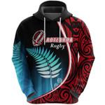 Aotearoa Rugby Black Maori Hoodie Kiwi and Silver Fern New Zealand | 1st New Zealand
