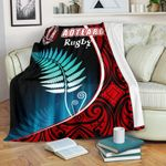 Aotearoa Rugby Black Maori Premium Blanket Kiwi and Silver Fern New Zealand   1st New Zealand