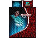 Aotearoa Rugby Black Maori Quilt Bed Set Kiwi and Silver Fern New Zealand | 1st New Zealand