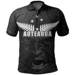 New Zealand Rugby The Haka Tatto Face Polo Shirt