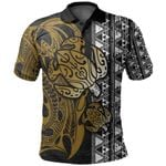 Turtle And Polynesian Tattoo Polo Shirt