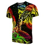 Turtle Couple T-Shirt With Polynesian