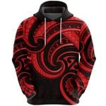 New Zealand Maori Mangopare Hoodie Polynesian - Red K8