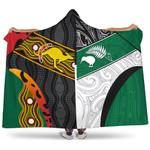 Australia Indigenous and New Zealand Maori Hooded Blanket Proud K13