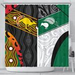 Australia Indigenous and New Zealand Maori Shower Curtain Proud K13
