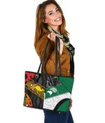 Australia Indigenous and New Zealand Maori Small Leather Tote Proud K13