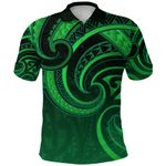 New Zealand Maori Mangopare Polo Shirt Polynesian - Green K8