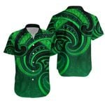 New Zealand Maori Mangopare Hawaiian Shirt Polynesian - Green K8