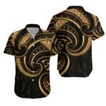 New Zealand Maori Mangopare Hawaiian Shirt Polynesian - Gold K8