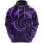 New Zealand Maori Mangopare Hoodie Polynesian - Purple K8